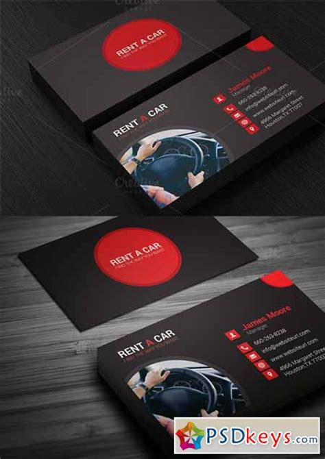 Rent A Car Business Card Template Free by Rent A Car Business Card 336742 187 Free Photoshop