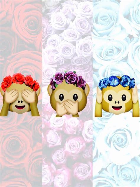 wallpaper flower emoji monkey emoji pesquisa google pinteres