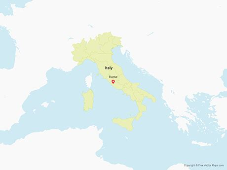 italy map vector vector map of italy with regions free vector maps