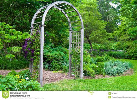 Arbor Garden Nursery Garden Arbor Stock Image Image 9674901