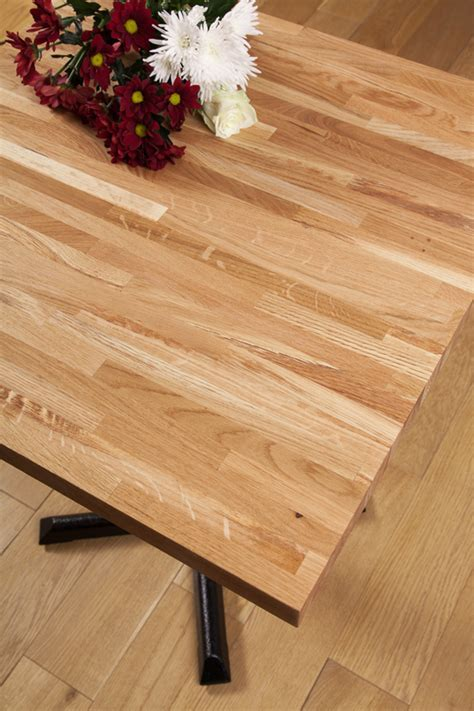 Solid Oak Restaurant Tabletop Square 20mm