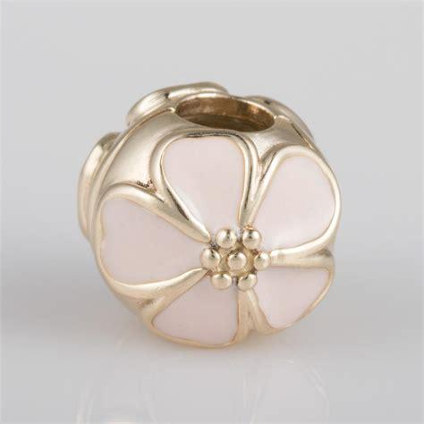 Pandora Cherry Blossom Clip Charm P 480 authentic genuine pandora 14k gold cherry blossom clip charm 750816en40 ebay