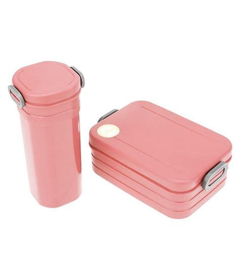 Plastic For Pink tuelip pink plastic lunch box set with bottle buy