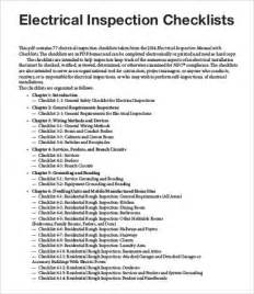 electrical home inspection inspection checklist template 9 free word pdf