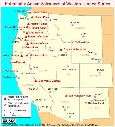 america volcano map volcanoes in america map