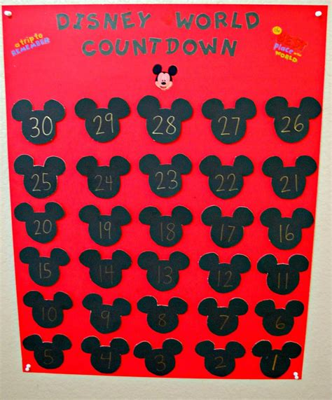 Disney Countdown Calendar Disney World Countdown Calendar Mess For Less
