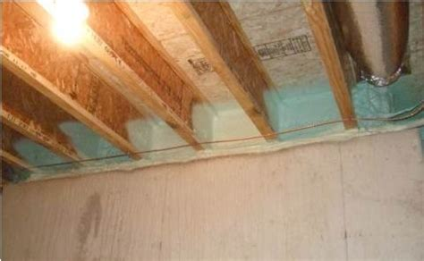 insulate basement sill plate spray foam provides a critical seal between the subfloor