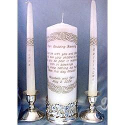 Wedding Blessing Unity Candle Set by Wedding Blessing Wedding Unity Candle Set Findgift