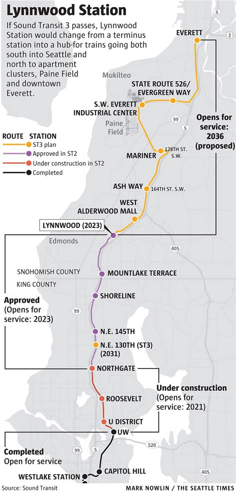 seattle light rail route lynnwood eager for growth changes that light rail will