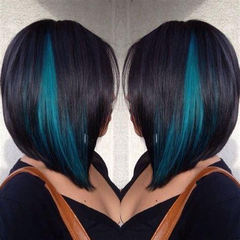 hairstyles with teal highlights blue highlight ideas hair world magazine