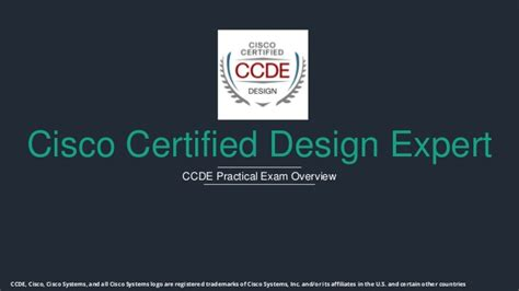 design expert ccde ccde practical exam overview
