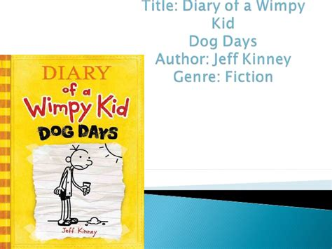 diary of a wimpy kid days book report summary days book talk
