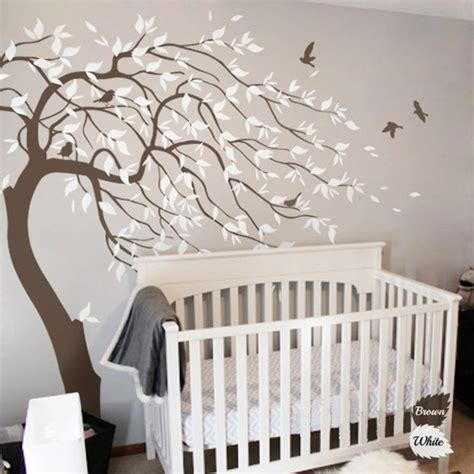 2016 Hot Huge White Tree Wall Decal Sticker Wall Decals White Tree Wall Decal For Nursery