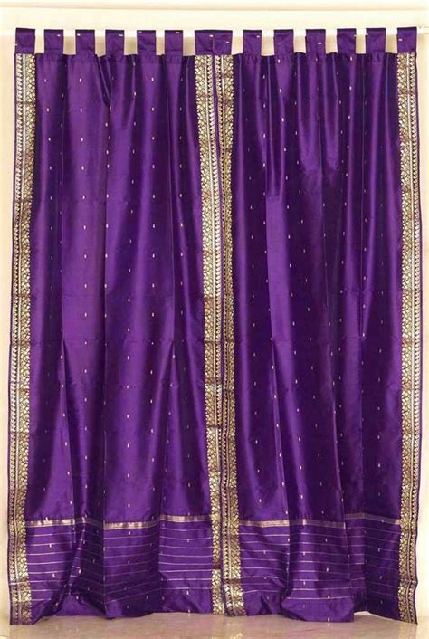 purple silk curtains purple and gold sari tab top purple silk sari curtains