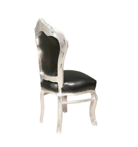 sedia barocca sedia barocco nero e argento pelle