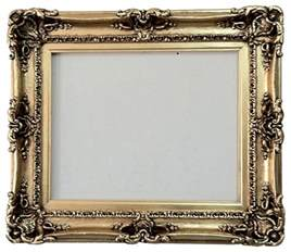 Oval Mirrors For Bathroom Vanities - gold leafed picture frame traditional picture frames by fancydecor
