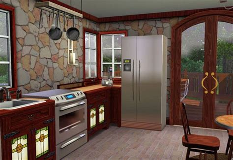 sims 3 craftsman style cottage kitchen compatible with