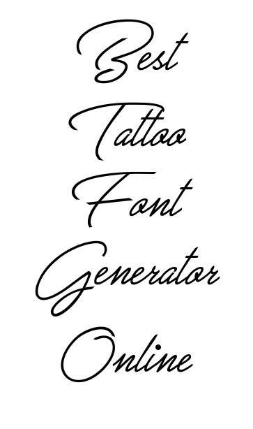 tattoo fonts generator 25 best lettering fonts ideas on