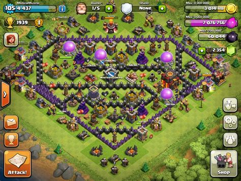 base layout names clash of clans clash of clans wiki