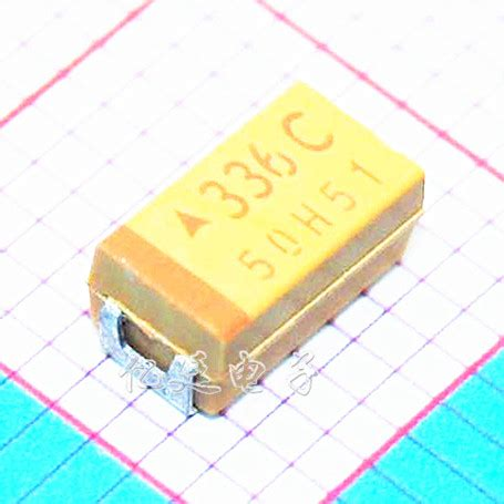 yellow smd capacitor chip tantalum capacitor 33uf 16v type c 6032 336c 10 duct capacitive yellow polarity capacitor