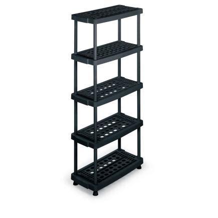 scaffali plastica terry scaffale 8040 5 nero scaffale in plastica ripiani
