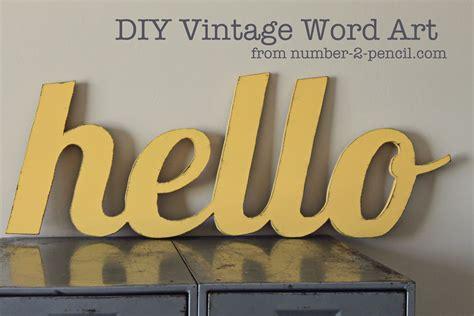 diy vintage word no 2 pencil