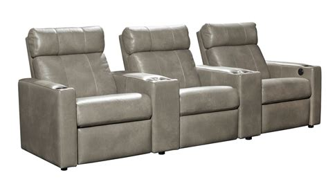 cobblestone leather power reclining home theater