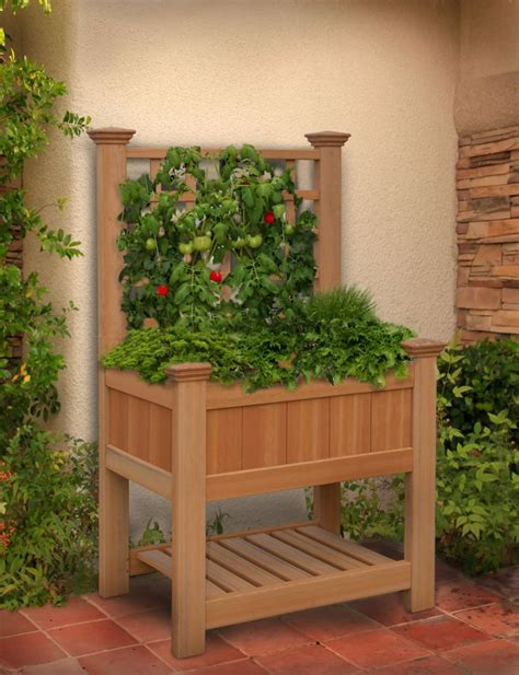 raised garden beds elevated planters  home depot canada