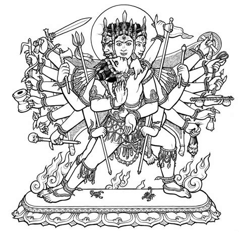 free hindu god and goddess coloring pages