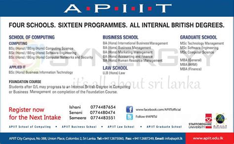 Mba After Msc Computer Science by Apiit Degree Programmes New Intakes January 2013 171 Synergyy