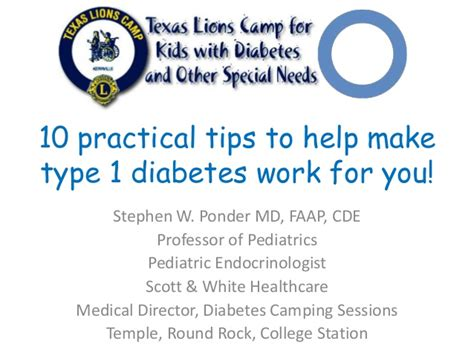 10 Tips To Help Make 10 Practical Tips To Make Type 1 Diabetes Work For You Tlc