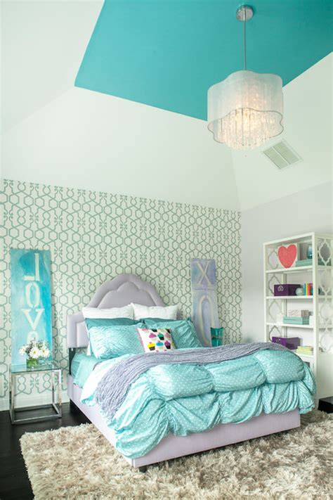 purple and turquoise bedroom turquoise ceiling contemporary girl s room benjamin