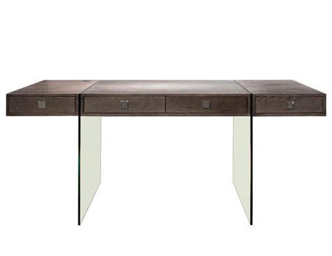 Clear Office Desk Modern Walnut Office Desk With Clear Glass Legs Officedesk