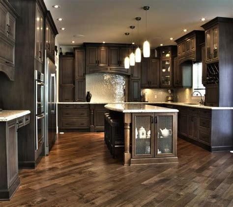 dark kitchen cabinets with dark hardwood floors 25 best ideas about dark kitchen floors on pinterest