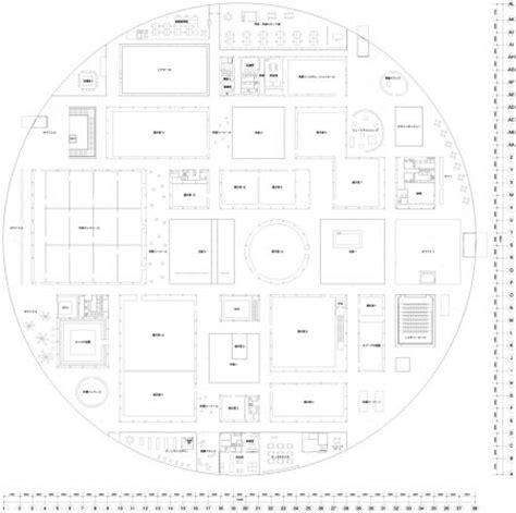 museum floor plan dwg isozaki museum of contemporary art floor plan of 21st century museum of contemporary art