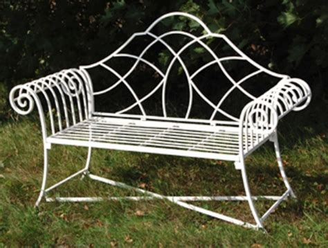 metal lutyens bench lutyens metal 3 seater garden bench in cream 163 110 00