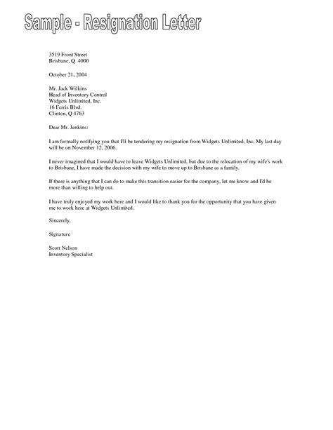 letter resignation relocation due spouse sample