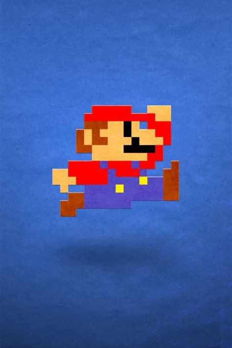 gamers phone wallpaper mario 8bit iphone 5 wallpaper 640x960