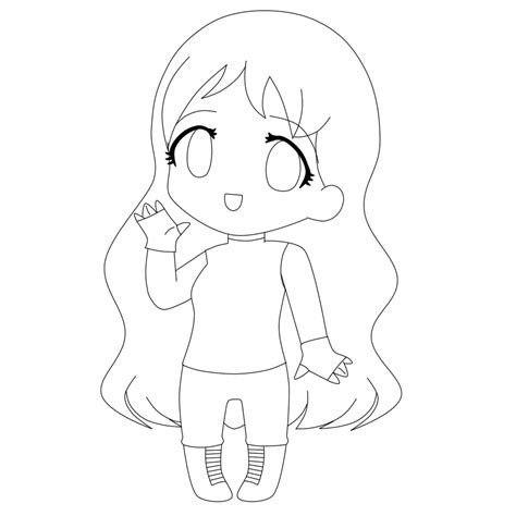 anime girl chibi coloring pages chibi lineart by nana girl97 on deviantart