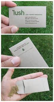 business cards with seeds in them 51 creative business cards that will make you look