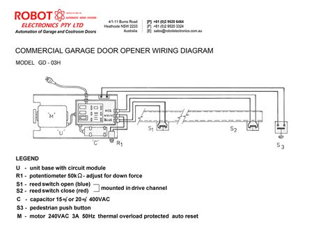 commercial door opener wiring wiring diagram with