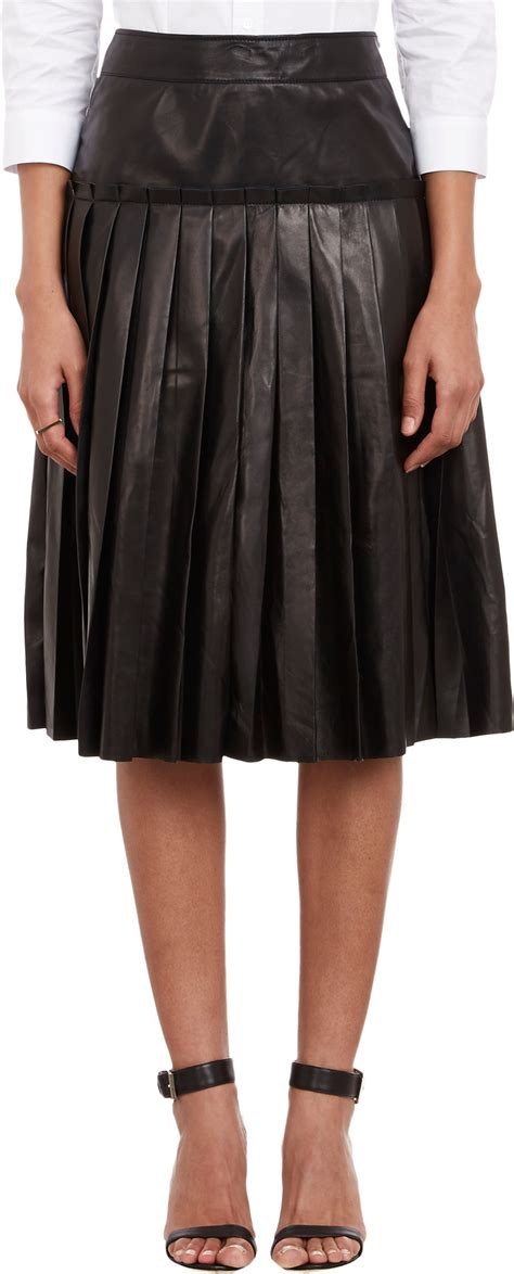 Buy Barneys Gift Card - barneys new york pleated leather skirt at barneys com