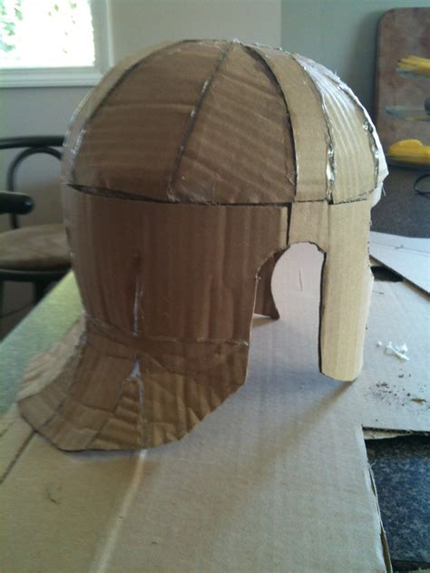 How To Make A Helmet Out Of Paper Mache - armour part 1 start at the top constructables