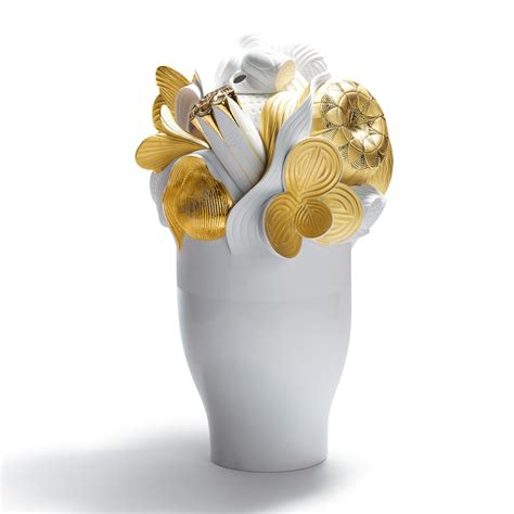 Golden Vase by Large Vase Golden 01007903 Lladro Vase Seaway China