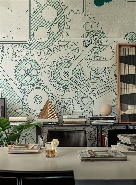 Art Deco Wall Murals best 25 industrial wallpaper ideas on pinterest metal