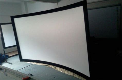 top quality hd projection screen 100 inch curved fixed frame 3d projector screens 16 9