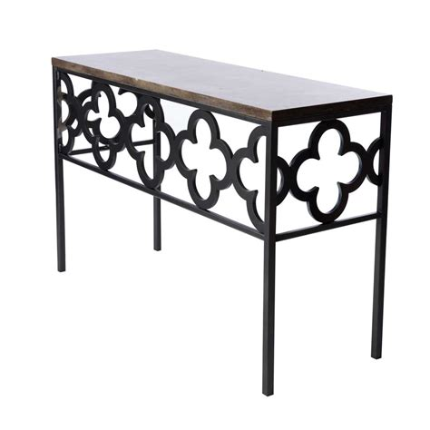 Quatrefoil Console Table with Quatrefoil Console Table Deaurora Showroom