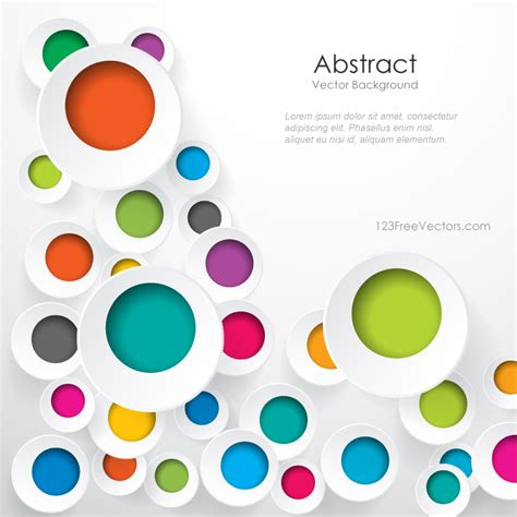 circle pattern graphic design free download colorful geometric circle designs background
