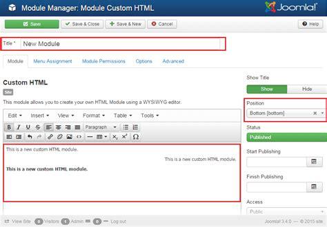 how to add template in joomla joomla 3 x how to add custom html module template help