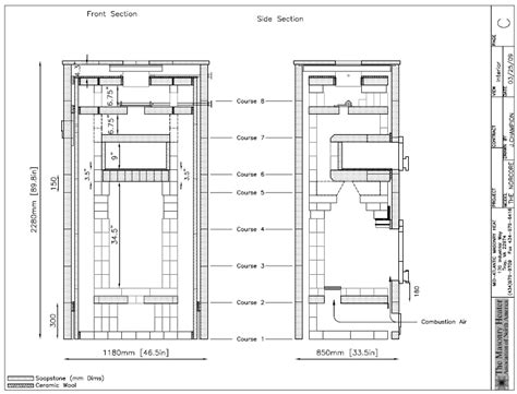Fireplace Construction Drawings by Fireplace Construction Drawings